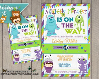 Monsters inc baby shower invitations etsy monsters inc baby shower invitation a little monster baby shower invitation monster baby filmwisefo Image collections