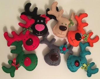 Festive reindeer decoration