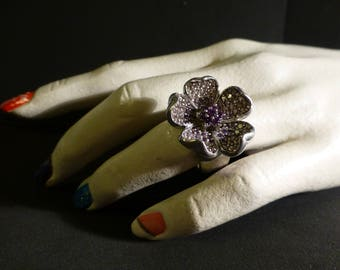 gorgeous very large ring in 925 sterling silver