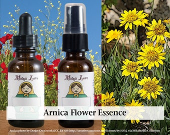 Arnica Flower Essence, 1 oz Dropper or Spray for Recovering from the Emotional Effects of Shock, Trauma or PTSD