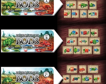 Hieronymus BODs; TWO Set Deal- creature evolution card game (self-published)