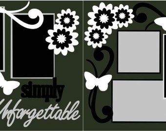 """Scrapbook 2 Page Layout """"Simply Unforgettable"""""""