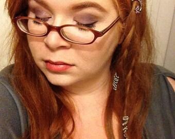 "Loc Jewelry, Dreadlock Jewelry ""FairyTails"", Dreadlock beads, Custom wire hair cuffs, Dread Beads, Great for Braids"