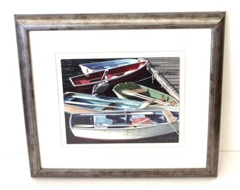 Happy Hour Framed Art Print by D.K. Gifford in Wood Frame