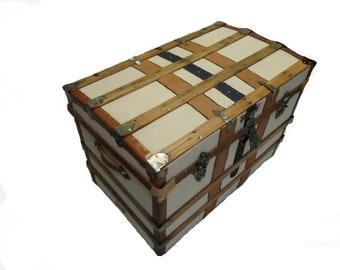Antique Box Trunk Medium Size C 1890
