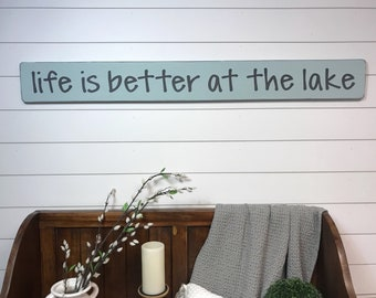 """Lake sign 