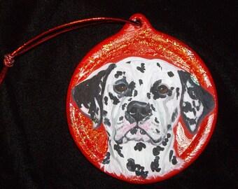 Dalmatian Dog Custom hand Painted Christmas Ornament Christmas decoration