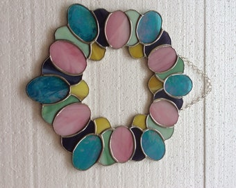 Stained Glass Easter Egg Wreath