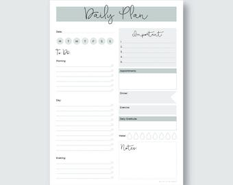 Printable A4 Daily Planner Download