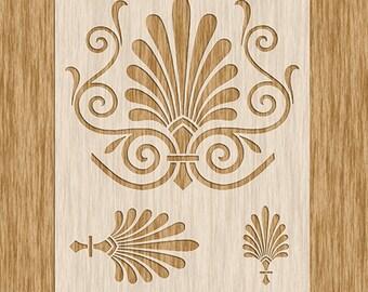 Art Nouveau Motif Stencil 3 sizes in 1 - Sku PAN0100 (8.5\