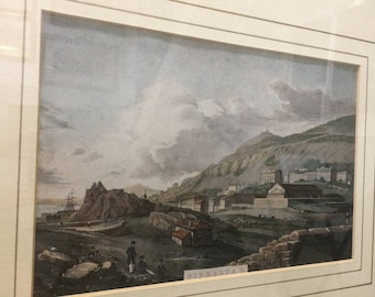 Historical Gibraltar Print by Major West, 1 in collection of 4 available