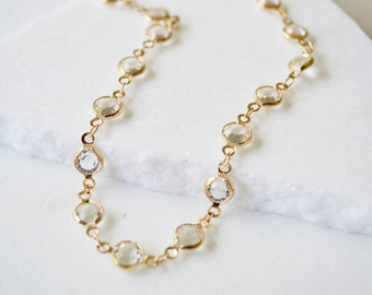 Crystal Choker, Crystal choker necklaces for women, Dainty necklace, Gold Necklace, crystal choker necklace, crystal chokers for women.