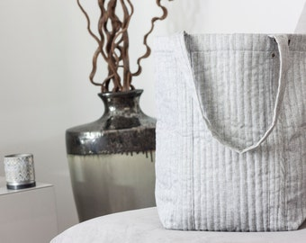 Light Grey+Paisley Tote // Oversized Bag // Carry All // Gifts that Give Back // Fair Trade // Handmade // Gifts for Mom // Indian