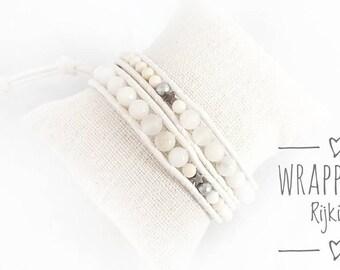 So white so sweet wrap bracelet