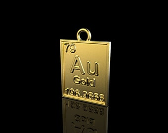 Au gold element etsy pendant gold element pendant au element pendant periodic table necklace gold necklace urtaz Gallery