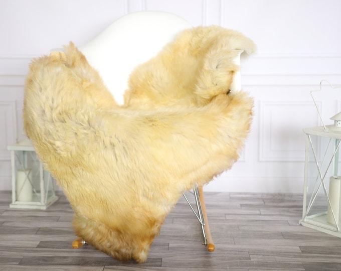 Sheepskin Rug | Real Sheepskin Rug | Shaggy Rug | Chair Cover | Sheepskin Throw | Beige Sheepskin | Home Decor | #Apriher34