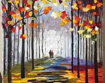 Romance copy of Leonid Afremov oil painting