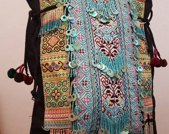 Hmong bag, tribal bag, Boho bag, beach bag, big bag, tote bag