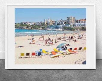 Deck Chairs Bondi Beach, DIGITAL DOWNLOAD, Fine Art Print, Bondi Beach, Wall Art, Summer Print, Beach Print, Printable Art, Photography, Art
