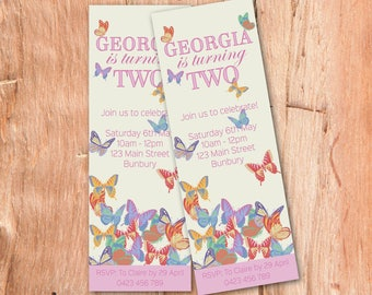 Butterfly Party Invitation, Girls Birthday Invitation, Printable Invitation, Girls Party Invitation, Party Printables, Invite, Fairy