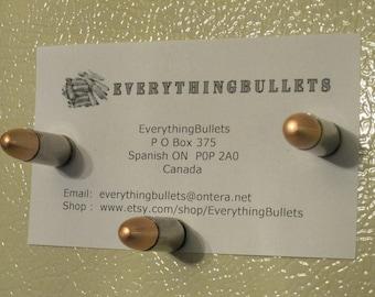Bullet Refrigerator Magnets, Bullet Fridge Magnets, 9mm Luger Nickel, Package of 3 Bullet Fridge Magnets