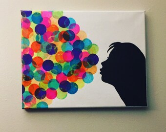 "Collage Wall Decor ""Mysterious Bubbles"""