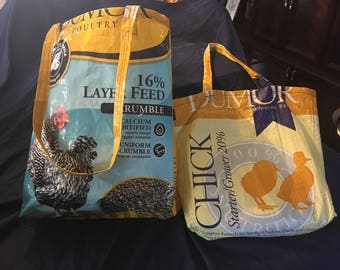Upcycled Feed Bag Tote