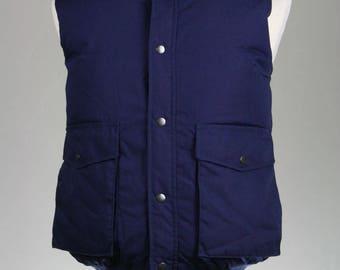 ON SALE Vintage 80s Outdoor Exchange Blue DOWN Puffy Ski Vest L