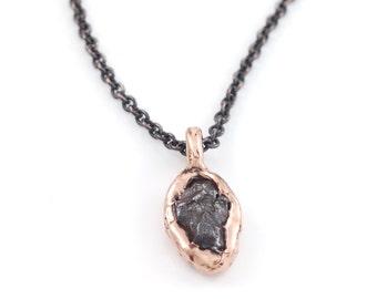Meteorite Pendant in 14k Rose Gold - Made to order