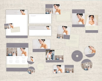 Photography Marketing Set - Wedding Photographer Branding, Photo Marketing Package, Wedding Photoshop Design Templates, INSTANT DOWNLOAD