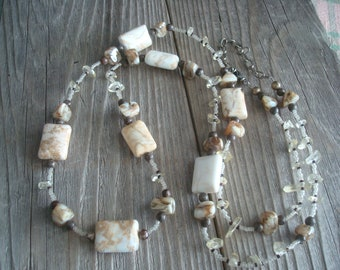 Warm and Welcoming Earthy Necklace - Stone - FREE SHIPPING