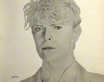 David Bowie Art Print 2 -- Bradford Salamon