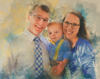 Custom Watercolor, Custom Portrait, Painting From Photo, Watercolor, Digital Painting, Custom Art