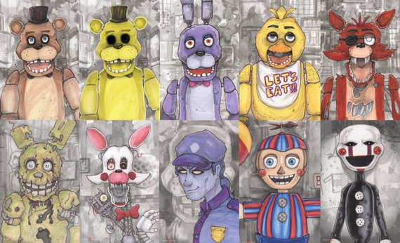Five Nights At Freddy S Poster Print Set Of 10
