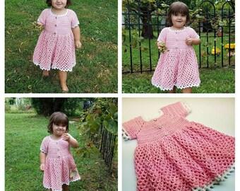 Crochet For EverRose My Princess Toddler Baby Girl Dress Pattern DIGITAL DOWNLOAD ONLY