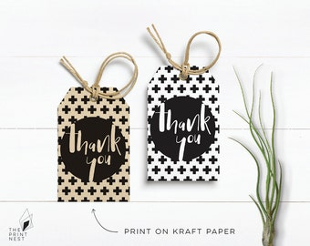 Thank You Tags Baby Shower, Baby Shower Invitation, Gift Tag, Printable Tag, PDF Instant Download