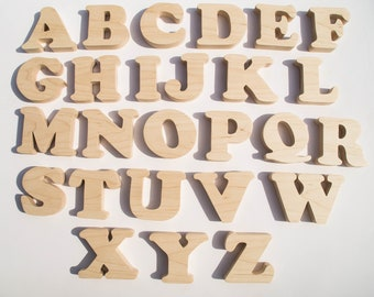 Name Letters - Alphabet Teaching Wood Letters - Custom Personalized Letters - Montessori Educational Toy - Handmade Wooden Names