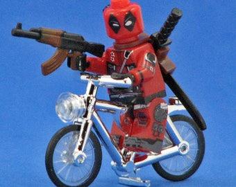 Deadpool Riding a Bike – Custom Minifigure