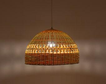 Bamboo Lamp Rustic Ceiling Light Shade Bamboo Pendant Light Bamboo  Lampshade Ceiling Lampshades Bamboo Light Pendant