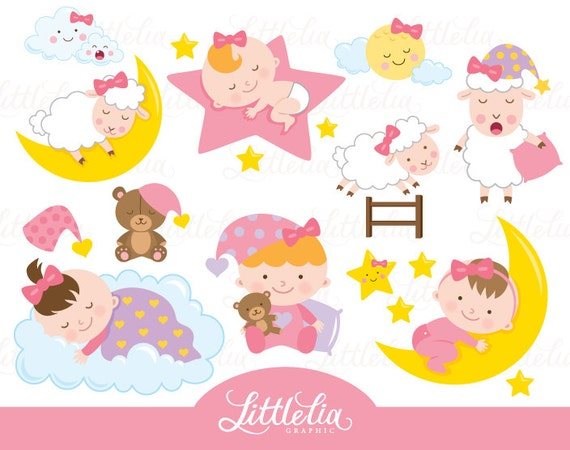sleeping baby girl sleep clipart baby clipart 16039 rh etsy com sleeping baby clipart microsoft word sleeping baby clip art images