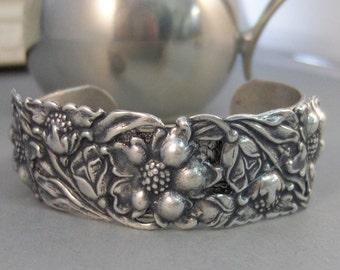 Gypsy Cuff,Cuff Bracelet,Flower Bracelet,Gypsy Cuff,Gyps Bracelet,Boho Cuff,Boho Bracelet,Cuff Bracelet,Bracelet,Silver,valleygirldesigns.