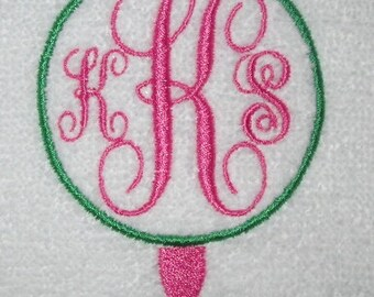 Monogrammed / Personalized Golf Towel -- You design it, we create it!/Mom/Bridesmaids/Ladies/Golf Outings/Teams/Senior Gifts
