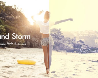 Sand Storm - 4 Photoshop Actions Pack INSTANT DOWNLOAD