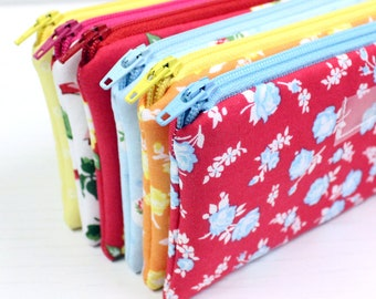 Cash Envelope System - Cash Budget System - 6 Cash Budget Envelopes with Zippers - Ready to Ship