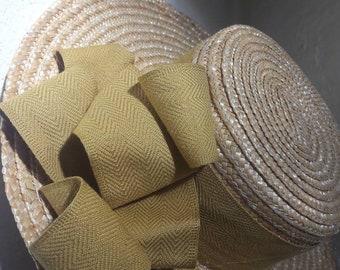 Mustard Ribbon straw hat