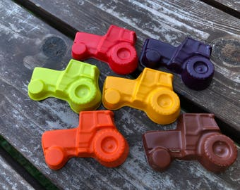 Tractor Crayons set of 10 - Tractor Party Favors - Farm Party Favors - Tractor Birthday Party - Farm Birthday Party Favors - Gifts For Kids