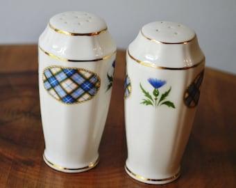 Royal Adderley Salt And Pepper, Vintage Shakers, Tartan And Thistle