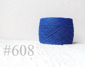 blue color linen thread, linen flax # 608