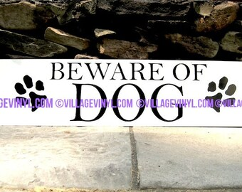 Custom Street Sign - Beware of Dog - Specialty Yard Sign
