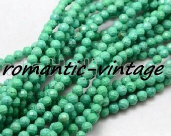20 mineral Howlite beads dyed, faceted 6mm